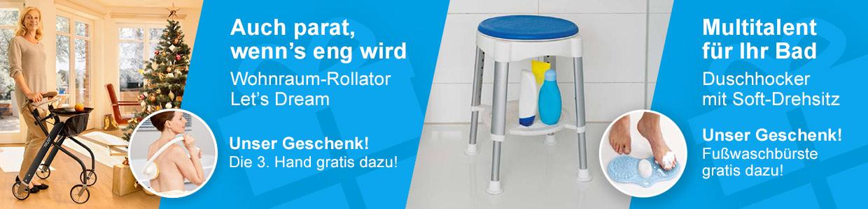 Online-Weihnachtsaktion Wohnraum-Rollator Duschhocker