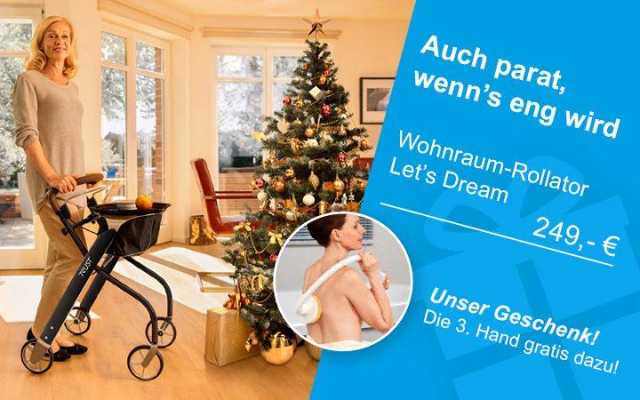 Weihnachtsaktion 2018 Wohnraum-Rollator