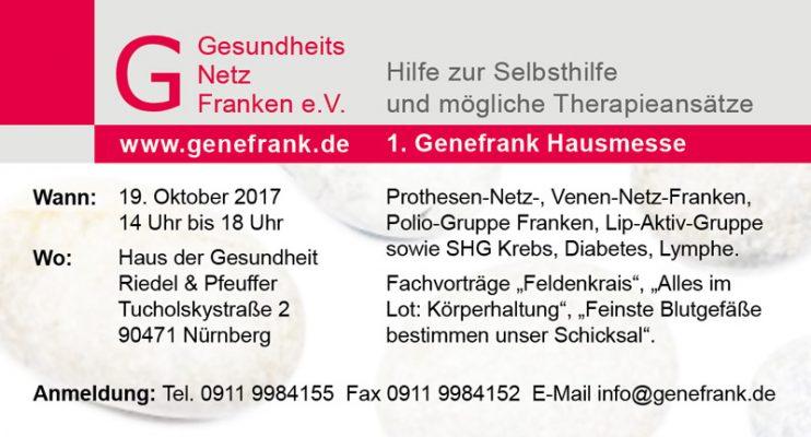 Genefrank Hausmesse 2017