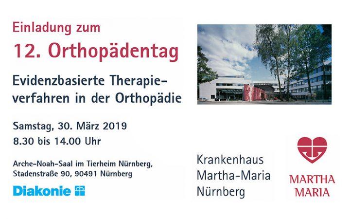 12. Orthopädentag 2019 - Martha Maria