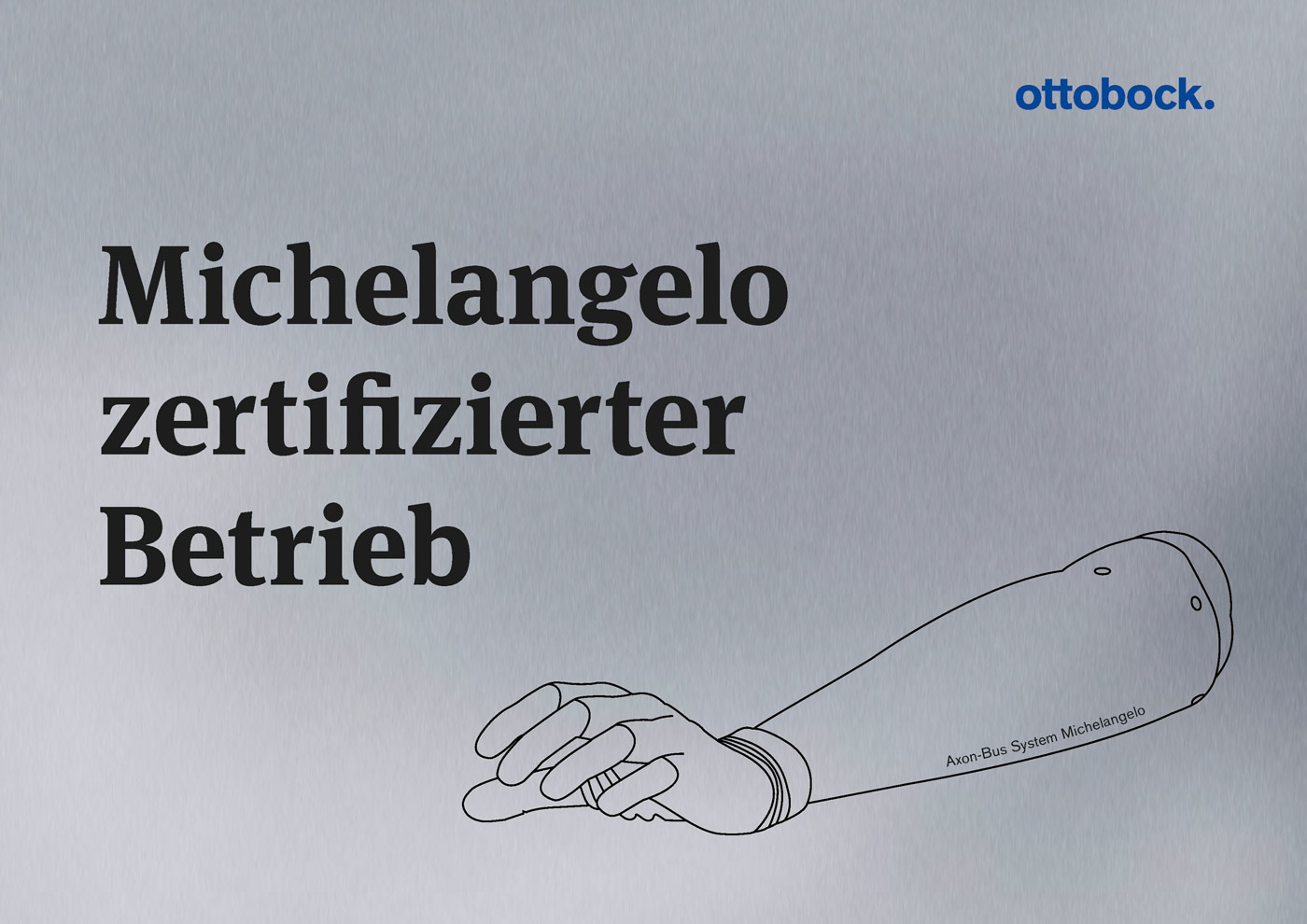 Zertifikat Ottobock Michelangelo