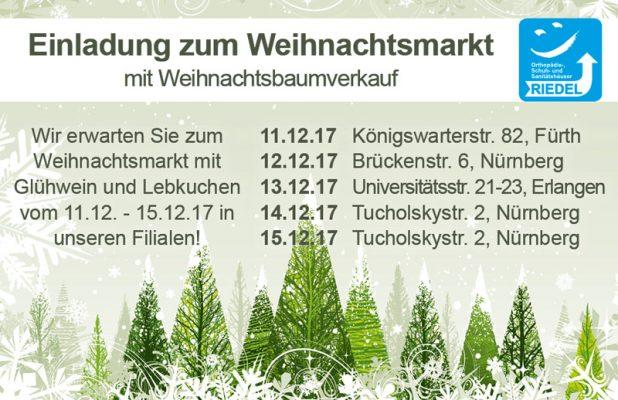 Weihnachtsmarkt Einladungskarte