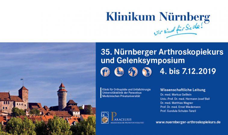 35. Nürnberger Arthroskopiekurs und Gelenksymposium