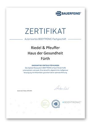 Bauerfeind Bodytronic Zertifikat